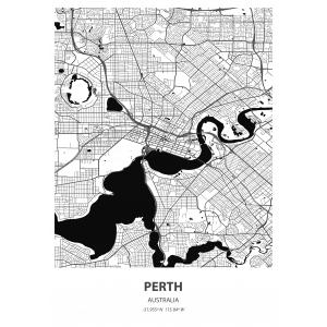 Fototapeta na wymiar mapa świata Perth