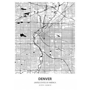 Fototapeta na wymiar mapa świata Denver