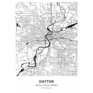 Fototapeta na wymiar mapa świata Dayton