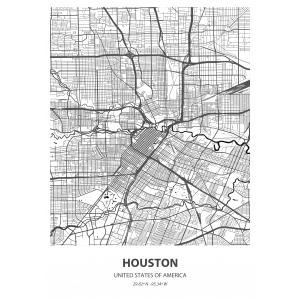 Fototapeta na wymiar mapa świata Houston