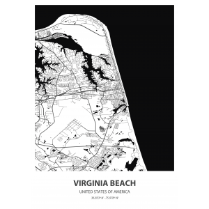 Fototapeta na wymiar mapa świata Virginia Beach
