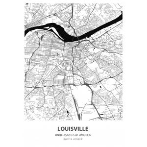 Fototapeta na wymiar mapa świata Louisville