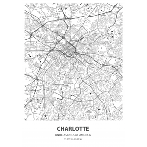 Fototapeta na wymiar mapa świata Charlotte